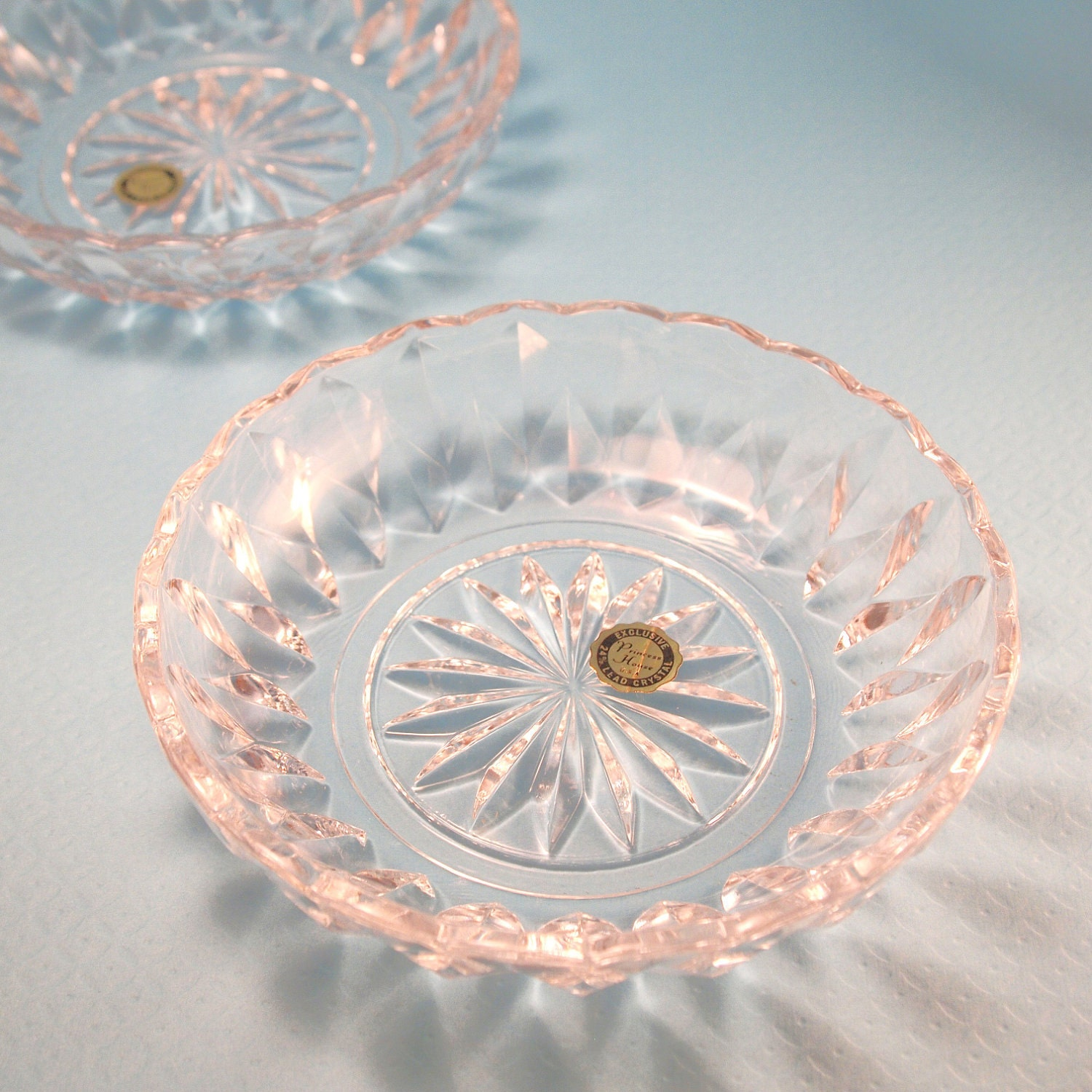 vintage princess house lead crystal candy dishes circa 1970