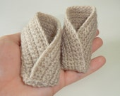 Made to Order for Tracey Ayre - Crochet baby booties x 2