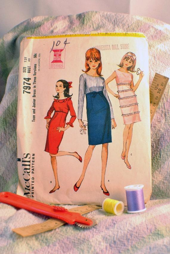 Vintage Simplicity Dress Sewing Pattern No.7974