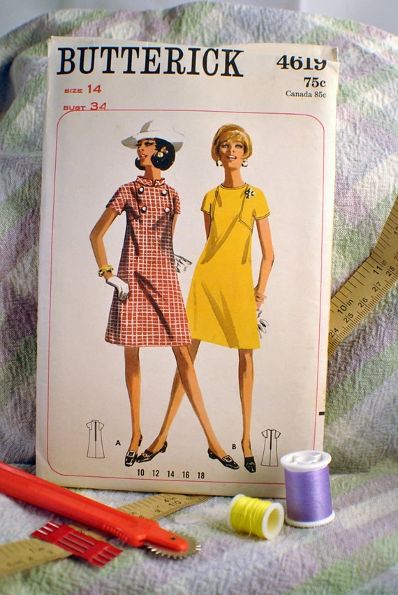 Vintage Apron Sewing Pattern No. 4619 by Butterick