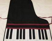 Piano Apron for Party Cooking Gift Hostess and More...