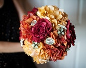 Red, Orange and Yellow Autumn Bridal Bouquet