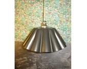 Reclaimed brioche tin lamp - large