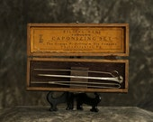 Veterinary Surgical Caponizing Kit with Case - Antique Medical Instruments
