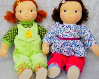 Waldorf Doll Melissa, 12 inches - for children from 3 years - for embracing