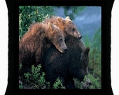 Brown Bear. Black Bear, Elk, Otters or Penguins Throw Pillow Case