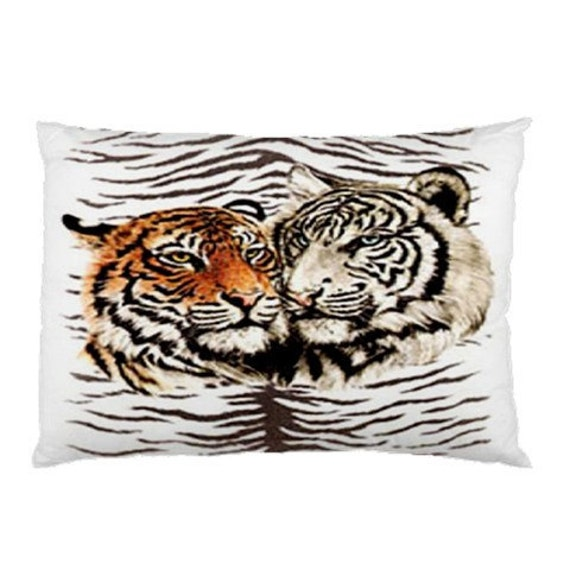 Twin Tigers Custom Pillow Case