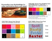 Embroidery Extras - add a phone number, logo, or design to your BarkinRidge Co. collar