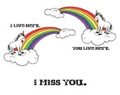 Missing You Unicorn Card