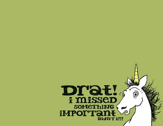 Forgot Something Unicorn Card