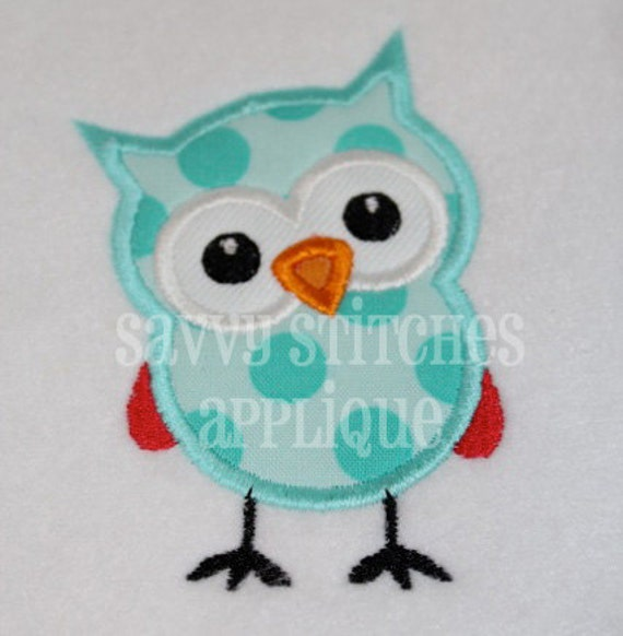Curious Little Owl Machine Embroidery Applique Design