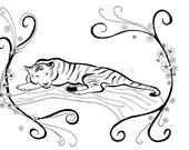 Custom Hand Drawn Tattoo Design -- 9x12  large detail ink