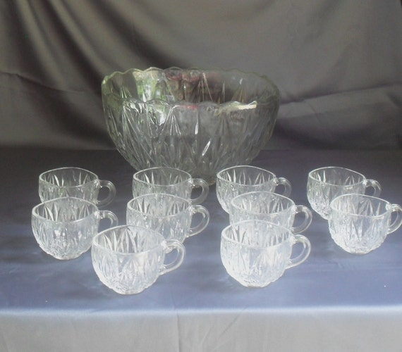 Vintage punch bowl Etsy