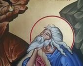 Byzantine Icon, Profitis Elias (Prophet Elijah), Large Canvas 24 in. X 36 in.