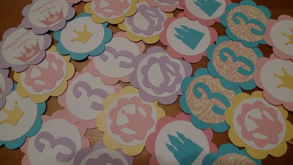 30 Princess Themed Cupcake Toppers