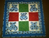 3D Bear Quilt - Primary Colors