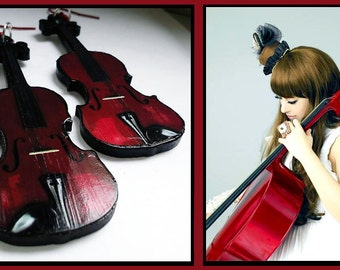 Earrings violin music Kanon Wakeshima