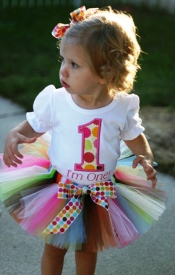 Personalized Multi Dots Birthday Number Tutu Outfit