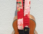 Ukulele Strap, Red Decorative Chilimen