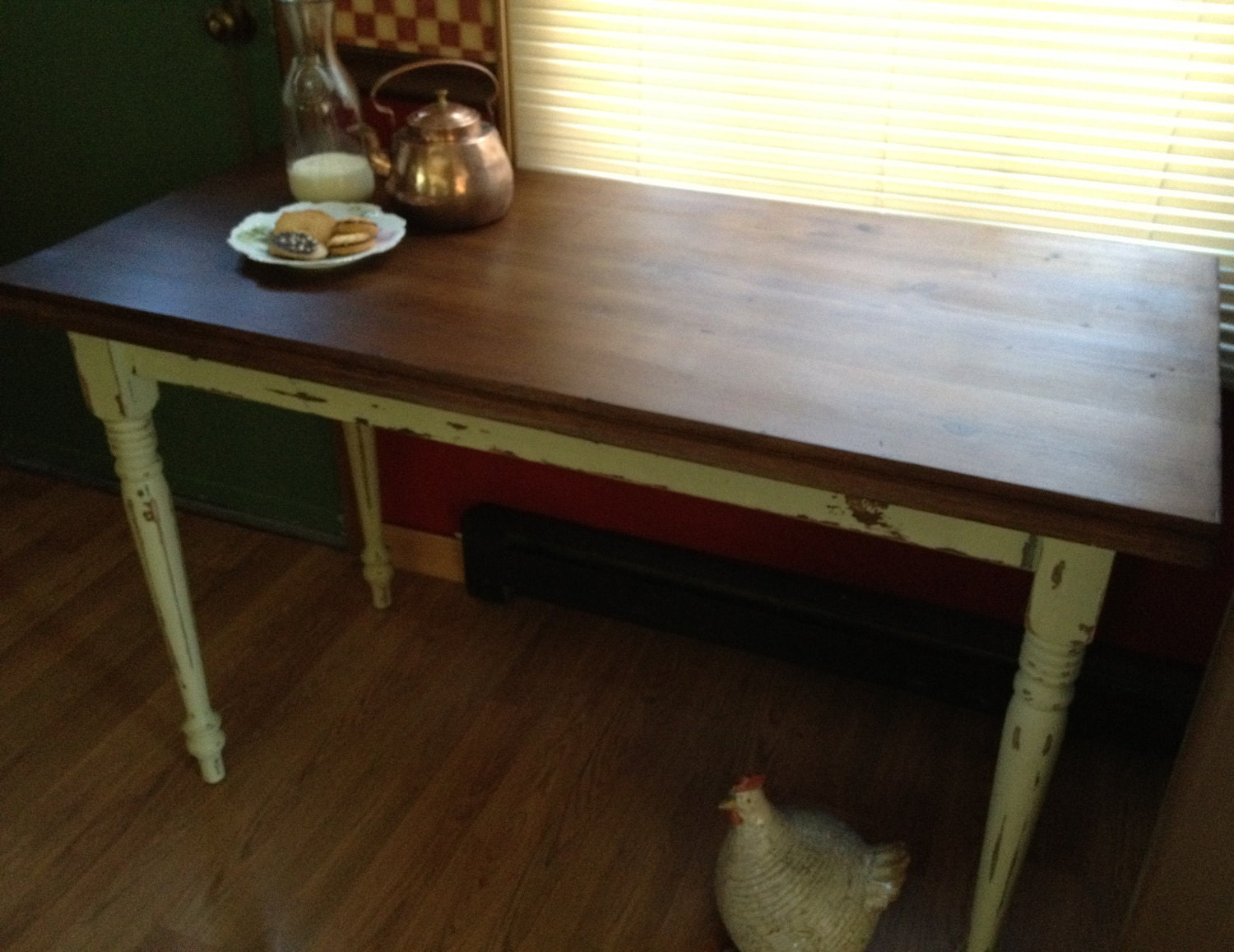 Small Rustic Kitchen Table: Rustic Urban Distressed Kitchen Table Or Writing Table