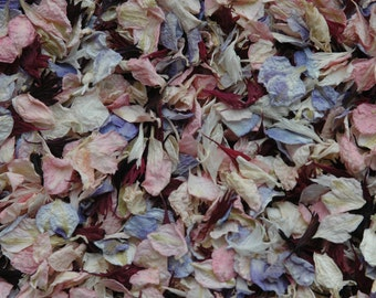 Real petal confetti - vintage wedding confetti - 1 pint