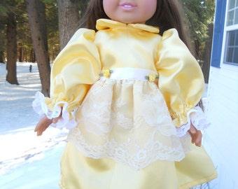 Gorgeous bright yellow satin party dress