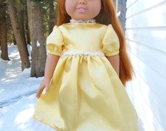 Beautiful yellow satin party dress