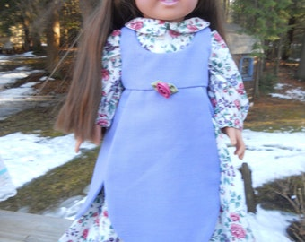 Two piece colonial outfit with tulip apron