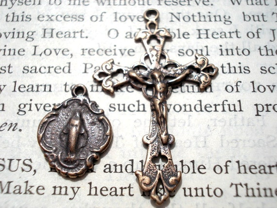 Crucifix - Miraculous Medal - Set - Made in the USA