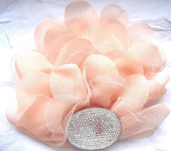 Chiffon Ruffles - Feather Pad - DIY - Hair clip - Headband - Sash