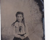 Tintype Photo of Young Spooky Beautiful Girl