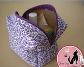 Box Pouch Sewing Pattern. Box Bag, Toiletry Bag, Makeup and Cosmetic Bag