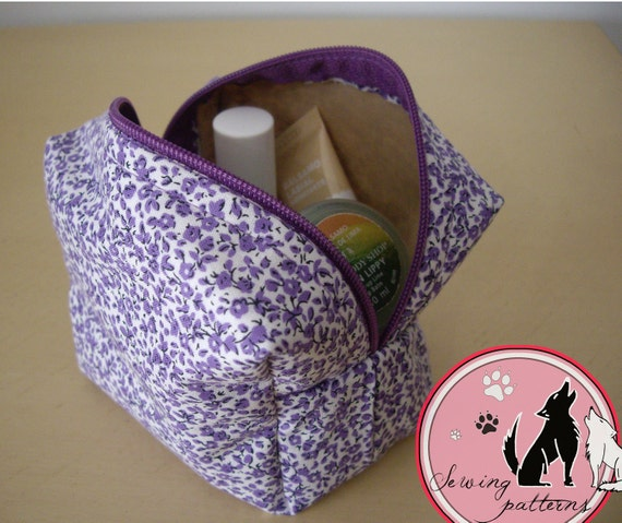 Box Pouch Sewing Pattern Box Bag Toiletry Bag Makeup And