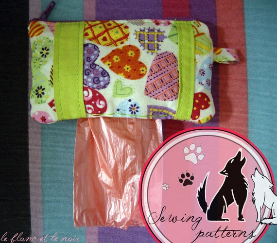 Dog Poop Bag Pouch Sewing Pattern. Model 1