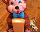 Cuddles Teddy Bear Phone by Carlton - Vintage