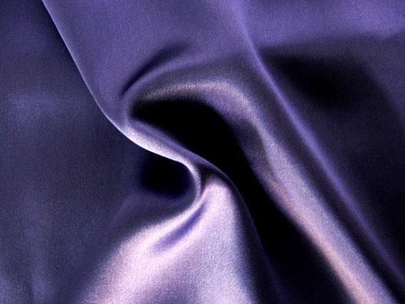 Lapis blue pure silk charmeuse satin fabric, 2 3/4 yards