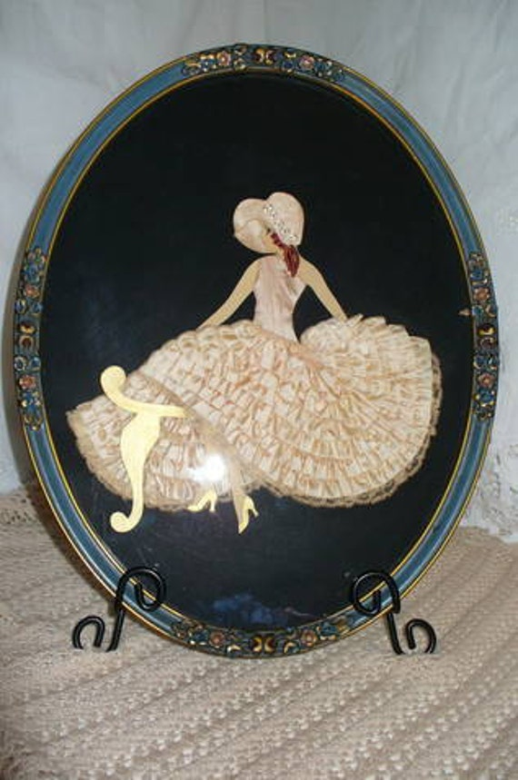 Reserved for Eileen.....Beautiful Victorian Ribbon Art Doll...Girl