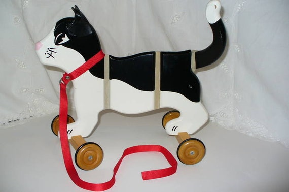 Vintage Cat Pull Toy