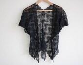 Delicate Black Lace Bolero/Shawl