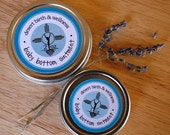 2 oz Organic Baby Bottom Balm for diaper rash, dry, itchy, sensitive baby skin, with lavender and tea tree essential oil