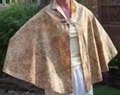 Custom order - Margaret -Yellow/brown/cream cape