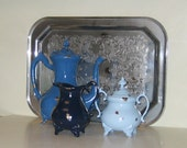 Vintage Shabby Chic Painted Tea Set OMBRE'