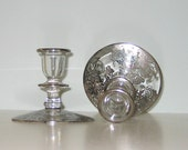 Vintage Silver Overlay Candle sticks