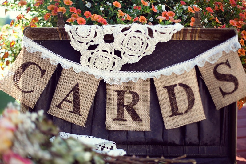 Burlap Banner Cards Banner Wedding Banners Rustic