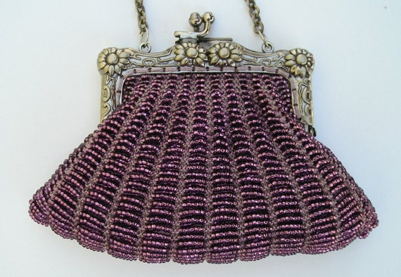 Beaded knitting kit, Danielle purse with purse frame, FULL SUPPLIES KIT with pattern