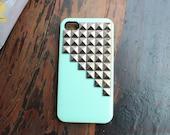 Silver pyramid screw 4/4 s iphone case:)