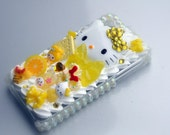 Yellow Hello Kitty Decoden iPhone 4/4S Case