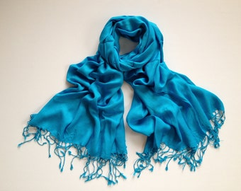blue pashmina scarf, blue pashmina shawl, blue fashion scarf, pashmina scarf, pashmina shawl, scarf, shawl