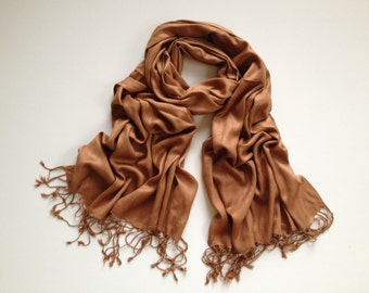 brown pashmina scarf, brown pashmina shawl, brown fashion scarf, pashmina scarf, pashmina shawl, scarf, shawl