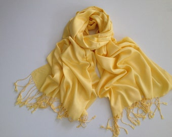 pale-yellow pashmina scarf, yellow pashmina shawl, yellow fashion scarf, pashmina scarf, pashmina shawl, scarf, shawl